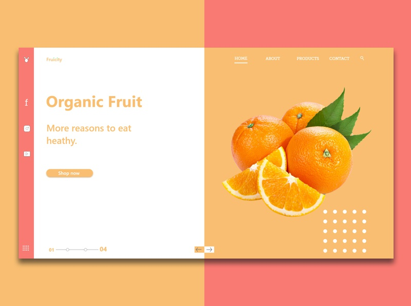 Fruit - Web UI colorful graphicdesign fruit userinterfacedesign userinterface webdesign landing page uxdesign uidesign uiux ui