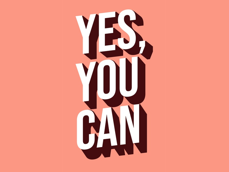 Yes you can profile procreate posters poster design poster can you yes typogaphy typo typedesign texture type arabic typography happy quotes positive