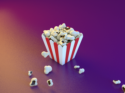 Popcorn Box 3d box film movie cinema cinema 4d popcorn
