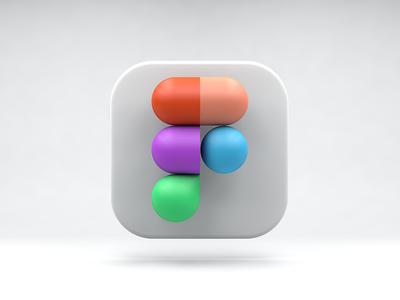 Figma app icon cinema cinema4d icon figma 3d