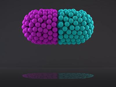 Pill cinema4d animation medicine pill 3d