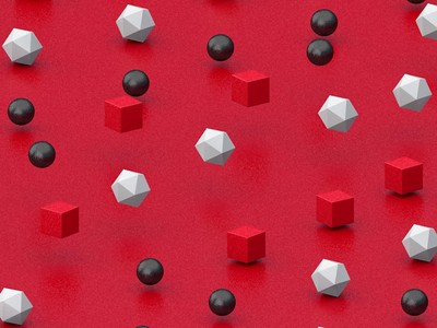 Red field 3d cinema4d 3d anmiation abstract