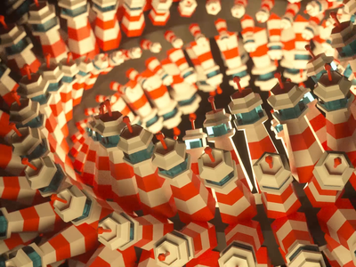 lighthouse looping cg 3d animation c4d lighthouse