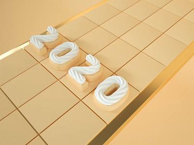 2021 cake 3d animation 3d art conveer looping loop whippedcream cream motiondesign cinema4d 3d animation