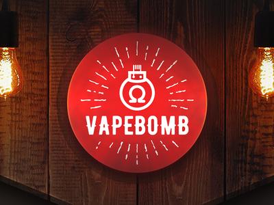 VAPEBOMB — branding for online vape shop shop e-coomerce labels logo branding vape