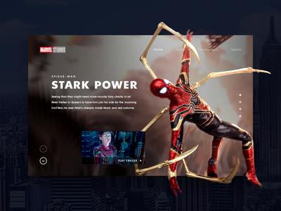 Spider-man hype train spider man marvel comics marvelcomics promo page promo site ui marvel spider spider-man