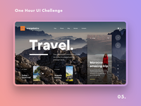 One Hour UI Challenge - 05. - Travel