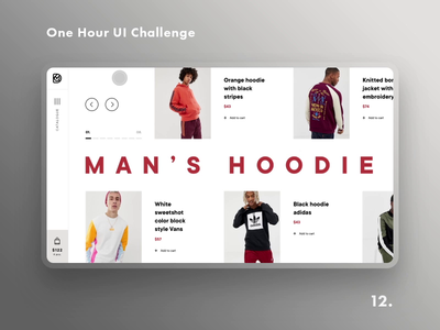 One Hour UI Challenge - 12. - Man's hoodie