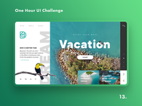 One Hour UI Challenge - 13. - Vacation
