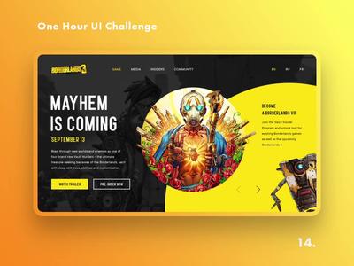 One Hour UI Challenge - 14. - Borderlands 3