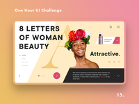One Hour UI Challenge - 15. - Letters of woman beauty