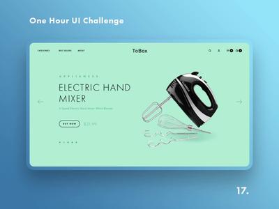 One Hour UI Challenge - 17. - ToBox kitchen tools shop