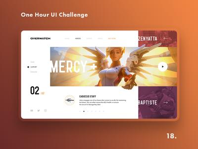 One Hour UI Challenge - 18. - Overwatch