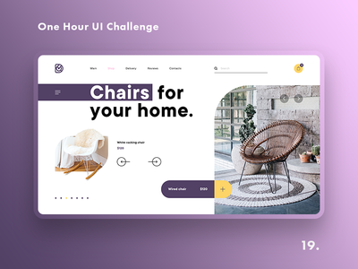One Hour UI Challenge - 19. - Chairs shop