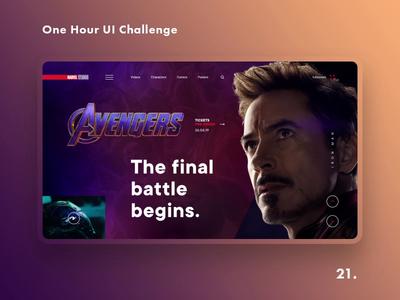 One Hour UI Challenge - 21. - Avengers: ENDGAME