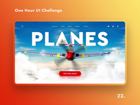 One Hour UI Challenge - 22. - Planes