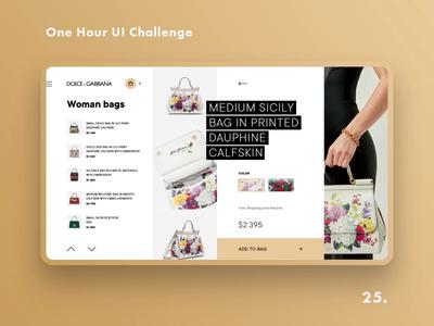One Hour UI Challenge - 25. - DOLCE & GABBANA
