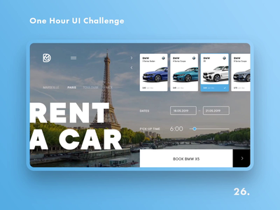One Hour UI Challenge - 26. - Car rent