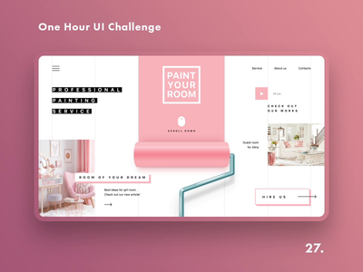 One Hour UI Challenge - 27. - Painting service