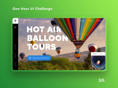 One Hour UI Challenge - 30. - Hot air balloon tours
