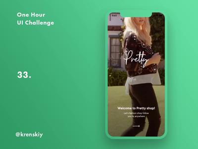 One Hour UI Challenge - 32. - Pretty shop