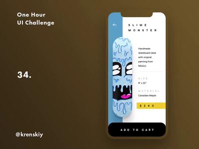 One Hour UI Challenge - 34. - Skate shop