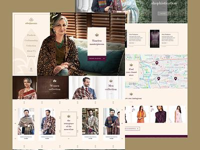 Ahujasons - full layout landing branding shop promo uiux ux design web-design ui