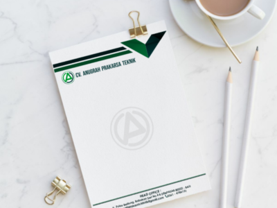 Lettermark paper letterhead logo company brand