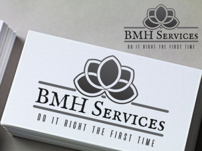 BMH Services brand design packaging elegant letterhead logo company brand design