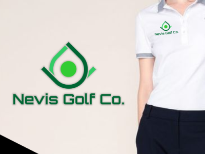 nevis golf logo branding logo design