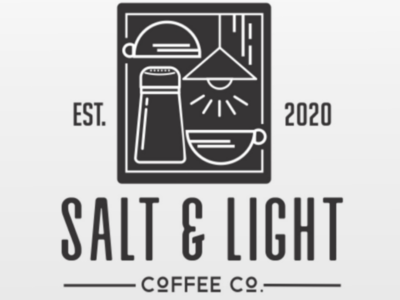 Salt n Light coffee logo abstract light coffee logo