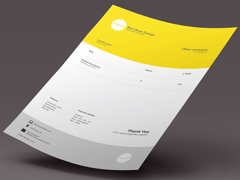 Invoice Layout layout invoice letter mockup psd design type