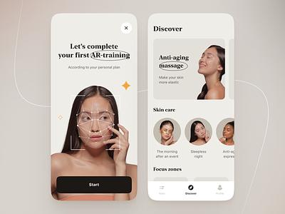Face Yoga app figma app design ux ui