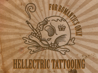 Hellectric Tattooing Business Card - Front view