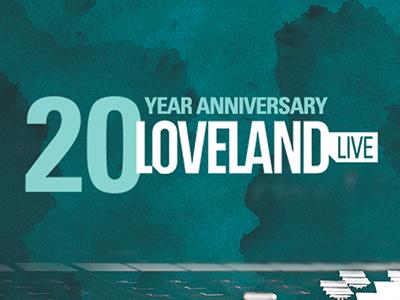 Loveland - 20 year anniversary loveland logo anniversary