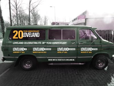 Loveland bus loveland events anniversary bus car sticker
