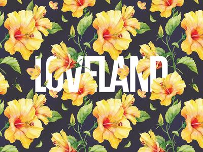 Spring flowers pattern loveland spring typography