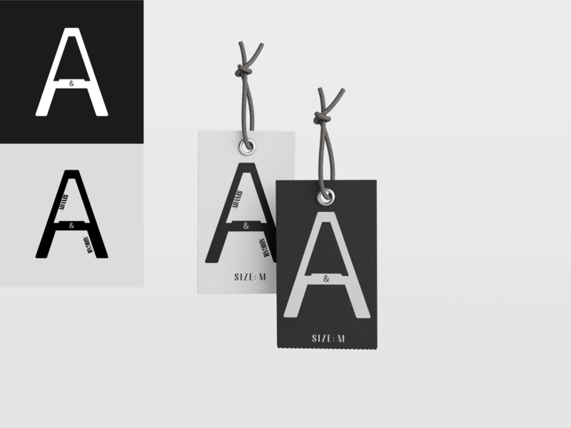 ADAMS & ABIGAIL letter a luxury brand tag icon luxury logo illustrator logo vector minimal flat design branding art