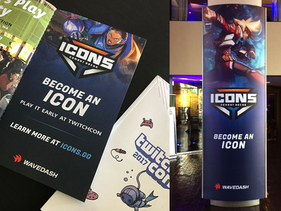 Icons TwitchCon Print Collateral games twitchcon icons print