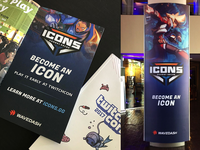 Icons TwitchCon Print Collateral