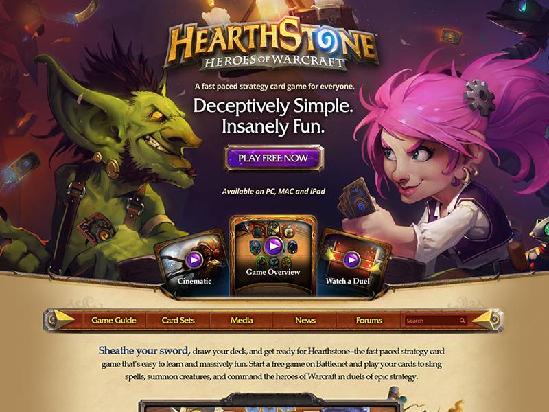 Hearthstone: Goblins vs Gnomes Main by Janelle Hitz on Dribbble
