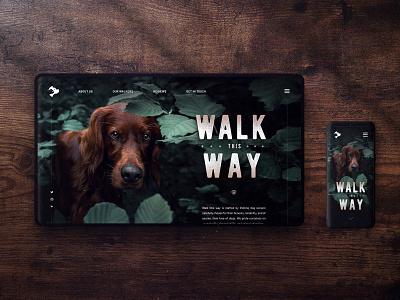 Walk This Way - Dog Walker Concept Design interface mockup mobile walk canine leaf oak wood websites dailyux dailyui concept doggo doggy dog ux website content ui web