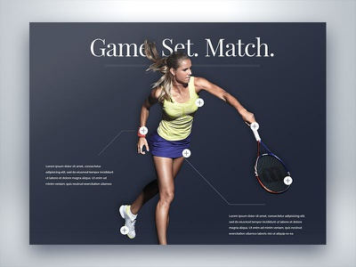 Interactive Tennis Serve typography hover analytics sports blue website web ui ux interactive serve tennis