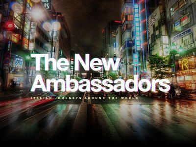 The New Ambassadors japan tokyo hero rain phase helvetica blur neon darkness night city