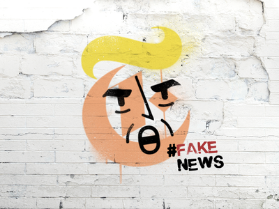 Trump vs The New York Times graffiti spray paint alternative facts fake news new york times nyt trump