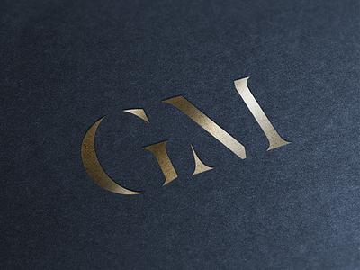 Personal Lettermark initials m g embossed mockup gold foil caps stencil letter brand logo