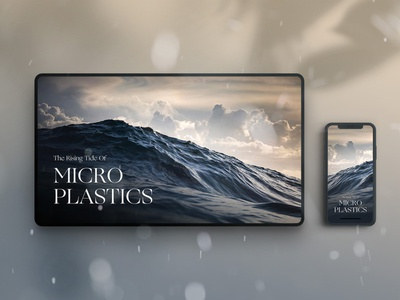 The Rising Tide of Microplastics plastic environment photography web mockup water ocean design ui branded content webdeisgn