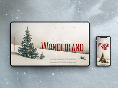 Winter Wonderland branded content typography type animation content web design website landing page interface snow christmas ux ui web