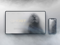 Ghost in the Machine machine ghost moody fog smoke mist article website mockup digitalart animation webdesign landingpage layout uiux ui web