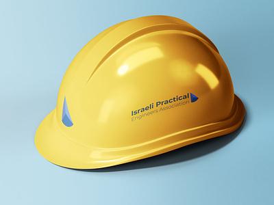Practical engineers Branded Helmet illustrator typography vector minimal logo illustration icon flat design branding